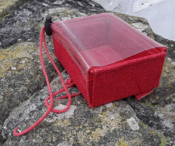 cornish jute - Valentines red drawstring box