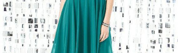 Sleeveless, Square Neckline and Square Back Cocktail Dress in Jade – Size 8