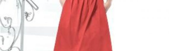 Strapless Cocktail Dress that comes with straps in Fire – Size 10