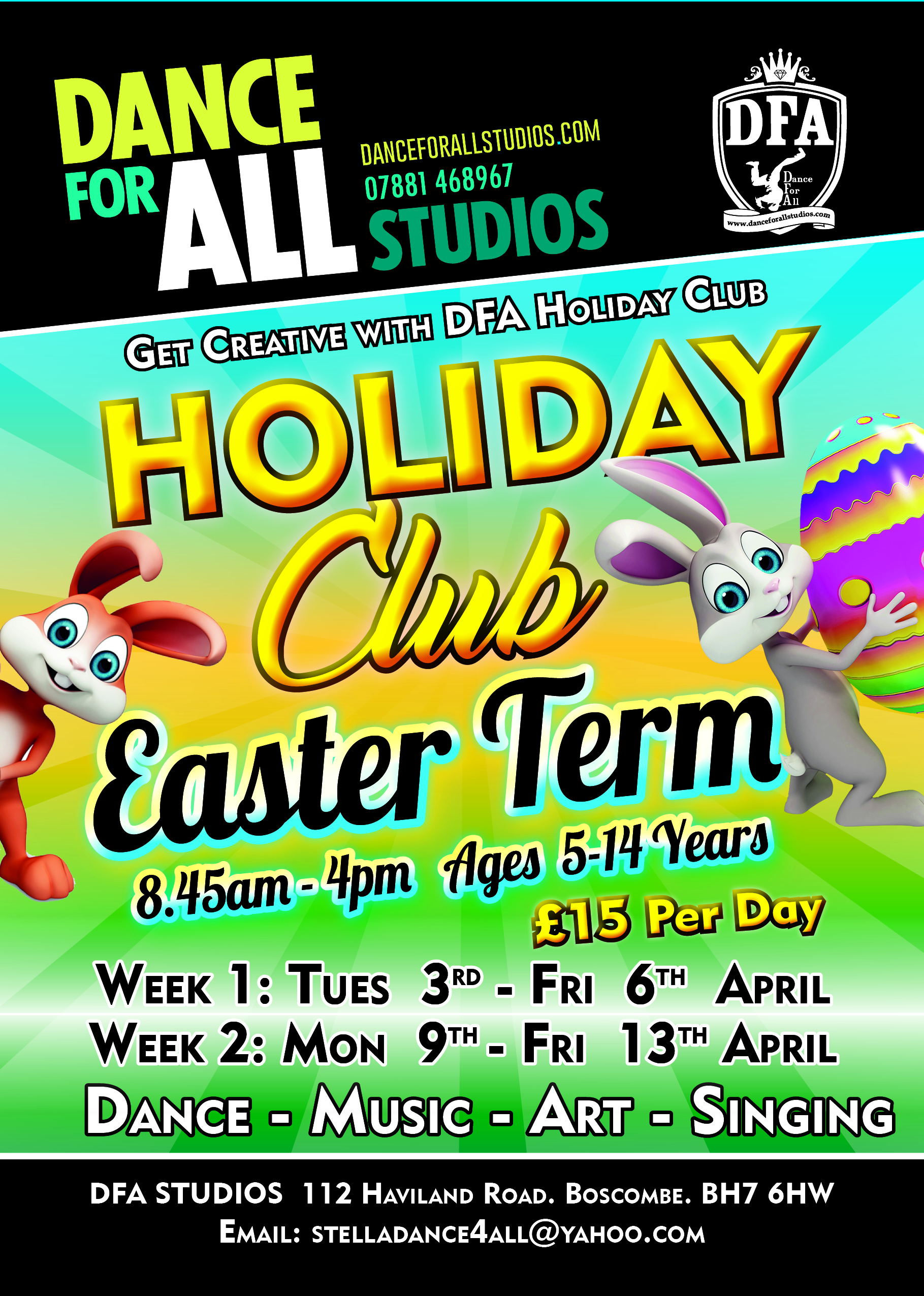 children u0026 39 s easter holiday club in bournemouth