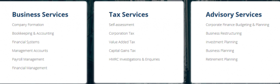 Business Services, Tax Advice and Advisory Services