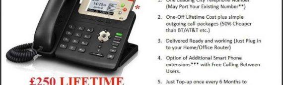 Lifetime Telephone Line Subscription