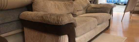 Torquay Carpets and Furniture Store – Biege Sofa Used Condition