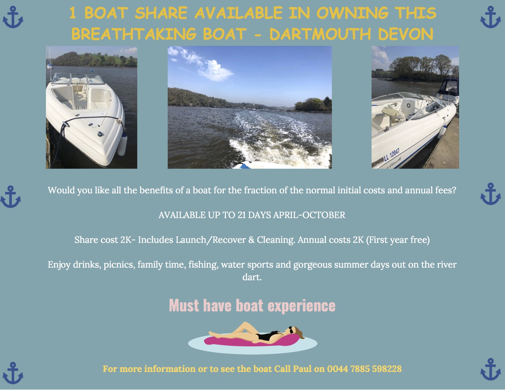 Boat Share Available - Wakeboard / Cruise / Enjoy without ...