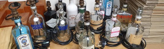 Bespoke Spirit Bottle Lamps – Just £60 BBX including National UK Mainland Delivery – A Perfect Christmas Present